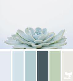Succulent hues | design seeds | Bloglovin' Design Seeds, Home Decor Colors, Colorful Decor, House Colors, Spa Colors, Spa Paint Colors, Neutral Colors, Vintage Paint Colors, Monochromatic Color Scheme
