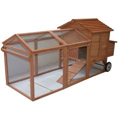 You'll love the Wheeled Tractor Hen House Chicken Coop with Chicken Run at Wayfair - Great Deals on all Furniture products with Free Shipping on most stuff, even the big stuff.