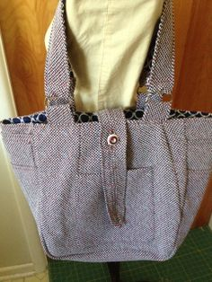 Upcycled Repurposed Recycled Vintage Suit Coat Tote by pinkamingo, $65.00