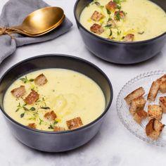 Krämig potatis- och palsternackssoppa med krutonger - Recept - Tasteline.com Cookie Do, Cookies Policy, 20 Min, Cheeseburger Chowder, I Foods, Ethnic Recipes, Gourmet