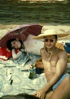 Nan Goldin - Bruce & Philippe on The Beach, Truro MA - 1975