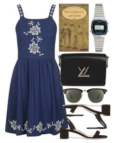 """Untitled #4992"" by rachellouisewilliamson ❤ liked on Polyvore featuring Topshop, Miu Miu, Louis Vuitton, Ray-Ban and Casio"