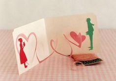 Tarjeta pop up San Valentín