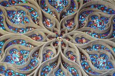 stained glass window in the Church of St. John the Evangelist, Spokane, Washington