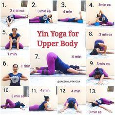 From a revitalizing restorative Yin Yoga Sequence for your upper body. ðŸðŸ Tag someone who should try this! Ashtanga Yoga, Vinyasa Yoga, Yoga Restaurativa, Yoga Yin, Yin Yoga Poses, Sup Yoga, Yoga Moves, Yoga Exercises, Yoga Meditation