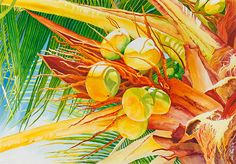 """""""Under the Coconut Palm"""" - awesome painting by Janis Grau"""