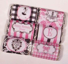 Eloise Party Mini Candy Bar Wrappers by WhenIWasYourAge on Etsy, $6.00
