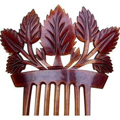 Victorian Carved Steer Horn Hair Comb Spanish Mantilla Style Hair from spanishcomb on Ruby Lane