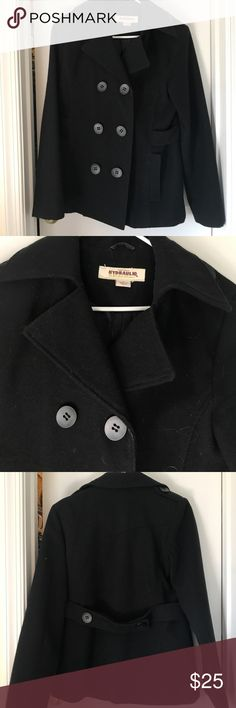 Black pea coat Very warm black pea coat. Worn a handful of times. No stains or tears. Has all the buttons and pockets. Bought from Macy's Macy's Jackets & Coats