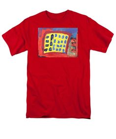 Abstract Men's T-Shirt  (Regular Fit) featuring the painting Work Time by Noa Yerushalmi