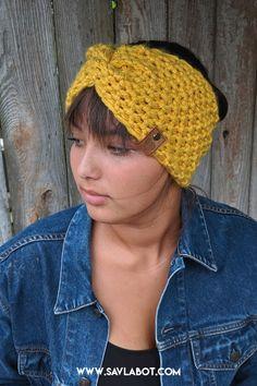 The Madison Ear Warmer – Savlabot Hand Knitting Yarn, Baby Hats Knitting, Easy Knitting, Knitting Patterns Free, Knitting Tutorials, Vintage Knitting, Stitch Patterns, Thread Crochet, Crochet Yarn