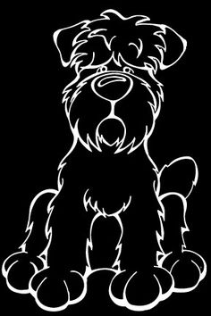 The Dog of the Day is the Black Russian Terrier.  Every Dog has its Decal! Show off your love for your Soulmutt with a Decal Dog Car Window Sticker. And bark loud and proud by personalizing it with your dog's name! #decaldogs #dogsofpinterest  #BlackRussianTerrier