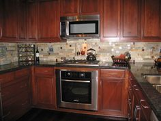 Remodeled Kitchens With Dark Cabinets Dark Wood Cabinets And