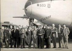 © G. Gadioux, collection privée / PEV devant un NORD 2000 avant le départ pour l'EGIG en 1960