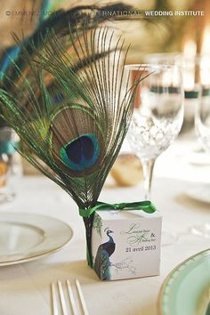 Peacock Feathers Wedding - Mariage plumes de paon | International Wedding Institute