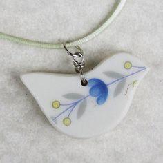 Oiseau pendentif cassé Chine 16 cordon Satin Silver par SisterZart