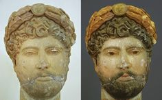 Hadrian in polychrome.
