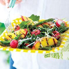 BBQ Peach and Asparagus Salad recipe - Fresh Juice