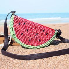 Simulatie Fruit Stro Geweven Tas Watermeloen schouder gepersonaliseerde Vrouwen…