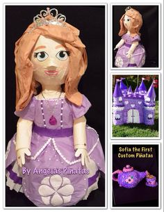 Sofia The First Custom Made Piñata by angela's pinata's
