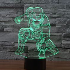 The Avengers Iron Man Deadpool 3D Led tabel lamp flash toy 2016 New SuperHero TMNT Batman 7 color visual illusion LED  lights #>=#>=#>=#>=#> Click on the pin to check out discount price, color, size, shipping, etc. Save and like it!