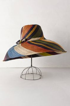 For the summer - or a trip!  Stripe Swirl Floppy Hat - anthropologie.com