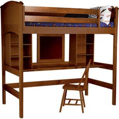 Bolton Furniture Cooley Twin Loft Bed with Bookshelves and Desk