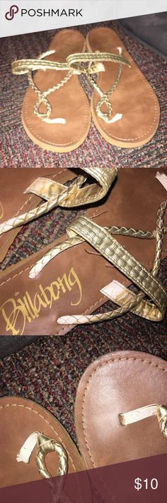 Billabong Sandals Worn but signs aren't visible when wearing -- super light weight sandal // size not visible but they are roughly 7.5 Billabong Shoes Sandals