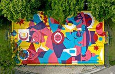 Acid Colors Street Art by Felipe Pantone – Fubiz Media Street Art News, Street Artists, City Illustration, Landscape Illustration, Ill Studio, Graffiti, Colossal Art, Renaissance Paintings, Realistic Paintings