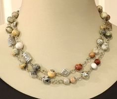 Long Beaded Necklace Long Necklace Beaded Necklace by RBeadDesigns