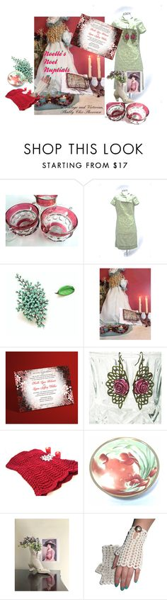 """""""Noelle's Noel Nuptials"""" by rusticrevivals ❤ liked on Polyvore featuring Brooks and vintage"""