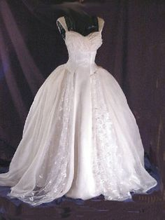 "Breathtaking Mid-Century Goddess Gown; 1950's #vinage #wedding Bust : 36""     Waist : 28"" Price : $825.00     (Sold)"