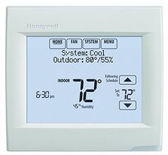 Honeywell TH8321WF1001 Touchscreen Thermostat Wifi Vision Pro 8000 with Stages upto 3 Heat / 2 Cool - Your customers want comfort, convenience and connectivity. With the Wi-Fi VisionPRO, you can offer them all three. Using an existing Wi-Fi network plus Honeywell's free Total Connect Comfort services, the Wi-Fi VisionPRO allows homeowners to remotely control their comfort settings and manage thei...