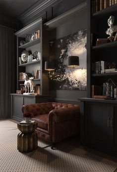 CABINET on Behance #darkmodernmansion