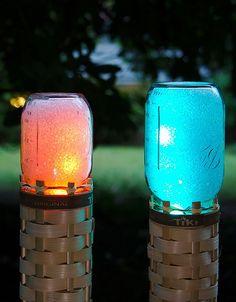 Cute DIY Mason Jar Ideas - Mason Jar Techno Tiki Torch - Fun Crafts, Creative Room Decor, Homemade Gifts, Creative Home Decor Projects and DIY Mason Jar Lights - Cool Crafts for Teens and Tween Girls http://diyprojectsforteens.com/cute-diy-mason-jar-crafts