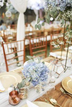 Details for wedding table decoration | An Elegant Rustic Wedding In Bali With Shades Of Serenity Blue | http://www.bridestory.com/blog/an-elegant-rustic-wedding-in-bali-with-shades-of-serenity-blue