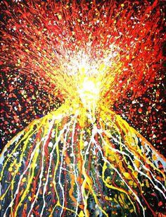 Volcano Painting – Explosive Art! | MOL Primary 7 Blog