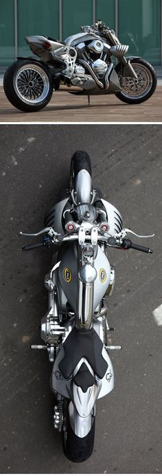 Image via It's like the reverse of a common motorcycle... fat tire up front. Image via The Tomahawk was built by dodge to showcase their Viper V10 engine. They made only a limited  and i am  the  king  and  lots  of   the  bike and  i him and a toy  at  kmart