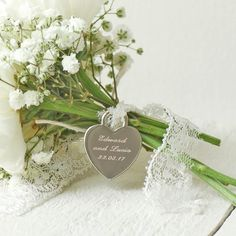 Personalised Bridal Bouquet Charm £12.00 - Gifts - Occasion Gifts Buy, Engraved Silver Jewellery, Personalised Mens, Womens Gifts, Online, UK