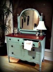 Vintage Dresser. I really want to refinish my dresser to look like this.