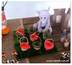 Festa artesanal - Safari Cestinhas para doce http://www.casa18.com.br