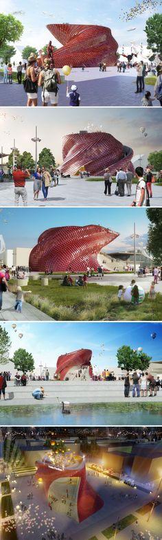 Italy. Milan. Expo 2015. Vanke Pavilion at Expo2015Milano Milano 2015 - Studio Daniel Libeskind expo 2015 pavilions