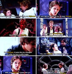 Han's names for Leia. I guess his for her aren't as weird as hers for him: scruffy-looking nerf-herder, flyboy, etc!!!