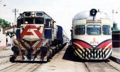 Cruce de trenes de Ferrocarriles Argentinos en la estación Marcos Paz del ferrocarril Sarmiento: 'La estación', poema.