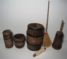 Items similar to Dollhouse Tudor barrel set, Kitchen accessories. Tudor accessories,Dollhouse kitchen accessories, Twelfth scale dollhouse items on Etsy Miniature Rooms, Miniature Fairy Gardens, Miniature Furniture, Miniature Houses, Tudor Kitchen, Mini Kitchen, Kitchen Sets, Kitchen Island, Haunted Dollhouse