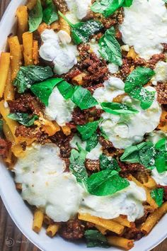 This recipe for Easy Baked Ziti is one you must try for your family! Packed with amazing Italian flavors, they will ask for it over and over!  |The Mediterranean Dish Pot Pasta, Pasta Dishes, Food Dishes, Easy Baked Ziti, Mediterranean Dishes, Mediterranean Diet Recipes, Ziti Al Horno, Italian Sausage Recipes, Italian Sausages