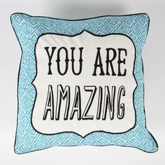 https://www.sassandbelle.co.uk/You Are Amazing Retro Cushion