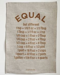 Equal measurements