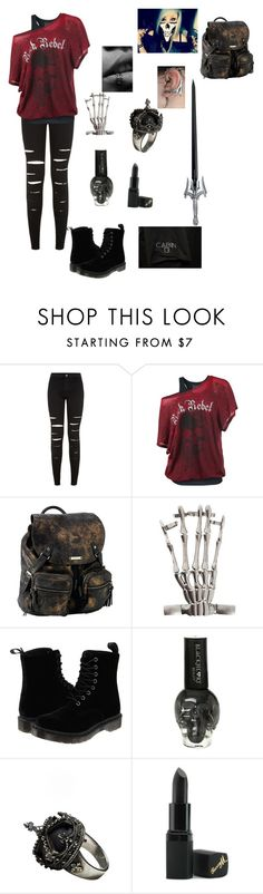 """""""Daughter of Hades 1"""" by bandnerd001 ❤ liked on Polyvore featuring Roxy, Dr. Martens, Femme Metale Jewelry, S.W.O.R.D., Barry M, women's clothing, women, female, woman and misses"""