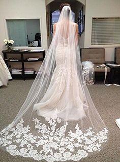 Barato Hot Sale catedral véus de noiva casamento véu Birdcage apliques véu de…